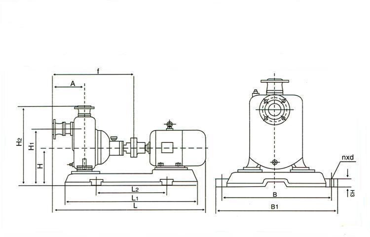 ZX自吸式离心泵安装图